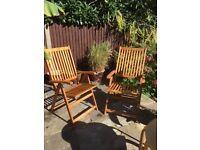 Wooden Folding/Reclining Garden Chairs