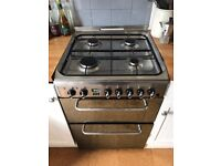 Indesit KDP60SES Dual Fuel Cooker - Stainless Steel