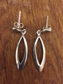 Silver Earrings - worn once!