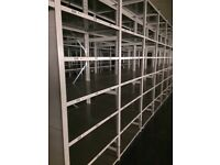 JOB LOT 20 bays of LINK industrial shelving 2.1m high AS NEW ( storage , pallet racking )