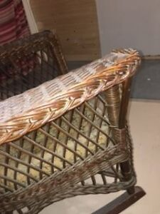 over 100 yrs old wicker chair London Ontario image 4
