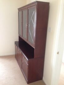 Mahogany finish Display cabinet