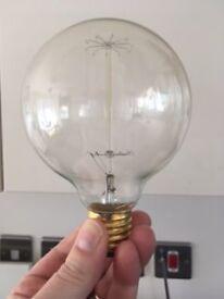 Two brand new retro Edison globe cage lightbulbs ( E27)