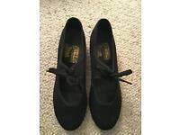 Freed of London, ladies black tap shoes.