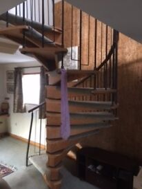 Pine Spiral staircase