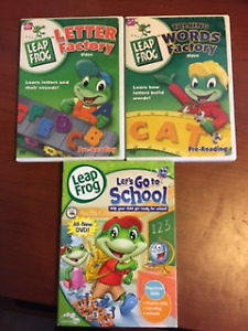 Leap Frog learning DVDs