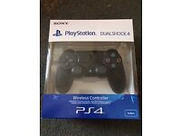 PlayStation Dualshock 4 wireless controller, jetblack, unopened