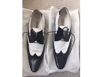 Dune black and white men's brogues size 44. Worn once, excellent condition.