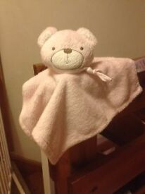 F&F by Tesco pink teddy baby comforter, very good condition