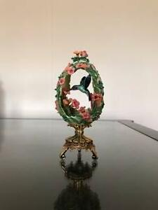 House of Faberge Jewels in the Garden Hummingbird Egg with stand Shellharbour Shellharbour Area Preview