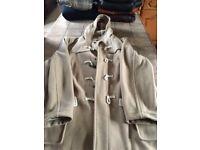 Gents Fawn Duffle Coat, Burtons, XL