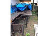 Garden Clearance of old pub tables. Great for renovation project Required asap