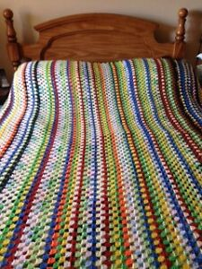 DOUBLE CROCHET AFGHAN