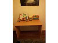 Nice used beech veneer desk for free