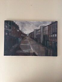 stunning contemporary painting of Royal Avenue by Belfast artist John Macormac