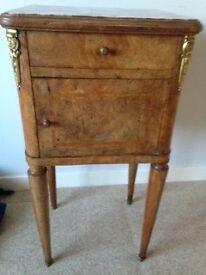 Burr walnut antique double bed