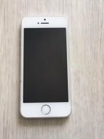 iPhone 5S (16GB) silver. In perfect condition with box, cable and earphones