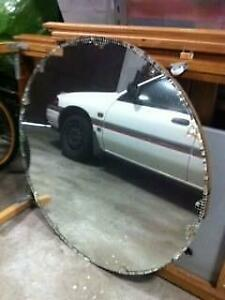 1 Large Round Art Deco Style Mirror