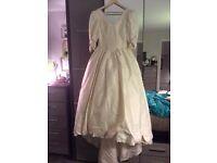 IVORY SILK WEDDING DRESS SIZE 12