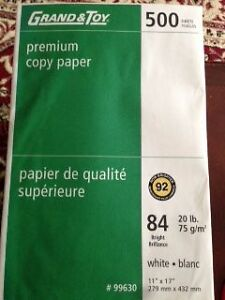 "3 PACKAGES OF 11"" x 17"" COPY PAPER"