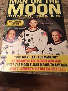 Collectable First Man on the Moon Magazine