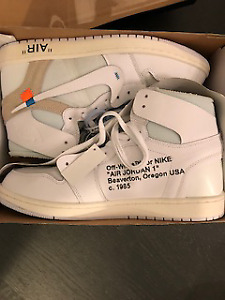 DS Nike X Off-White Jordan 1s (White)