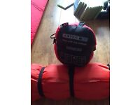 Junior sleeping bag with an Adult self inflating roll mat. Camping / Festivals. Willing to split