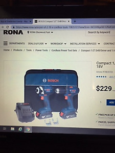 Bosch 18 V Drill Set ,NEW, Great Gift Idea