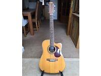 12 string Vintage electro-acoustic guitar