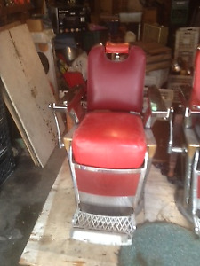 2 Belmont barber chairs for sale.
