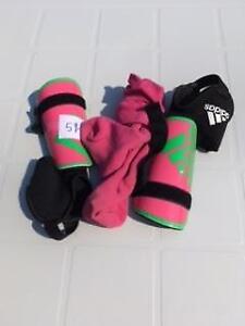 Soccer pads & socks for sale.