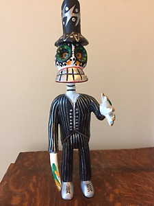 Hand carved figure - Made in Mexico