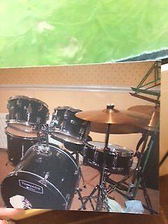 Black Mapex Tornado Drum Kit
