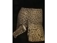 """BIG CLEAR OUT""""BARGAIN"""" womens/girls leopard print leggings ,size14 ONLY £1·00"""