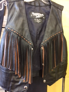 Love leather & fringe? We have the vest for you!