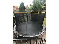 SPORTS POWER 12 FOOT TRAMPOLINE WITH ENCLOSURE