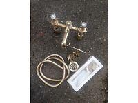 Gold colour shower / mixer taps