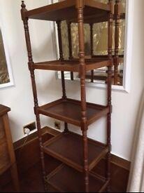 Tall Laura Ashley dark wood 4 shelf display unit £40