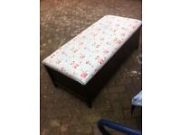 Wooden Otterman- Bedding or Toy Box- Shabby Chic project - Seat on Top- clean smoke free- only £10