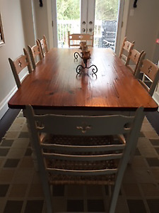 Solid Wood French Country Dining Room Set
