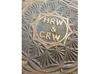 Carved wooden serving tray (antique)