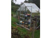 Aluminium frame greenhouse. 6x4