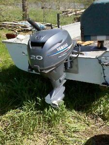 Yamaha 20 HP Four Stroke, 14 ft Mirrocraft and Trailer