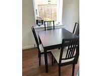 Extending Table and Chair Set