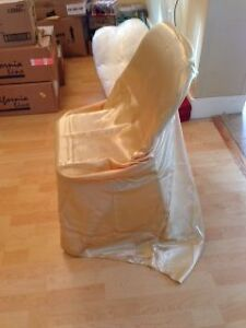 Universal Fit GOLD Chair Covers - $2 EACH Kitchener / Waterloo Kitchener Area image 2