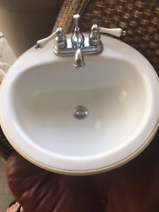 Bathroom Sink with taps and connections