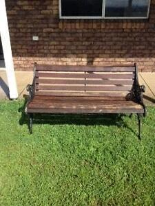 Wrought Iron and Timber Garden Bench Seat Warwick Southern Downs Preview