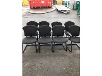 Black office side chairs