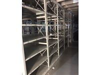JOB LOT 50 bays of LINK industrial shelving 2.3m high AS NEW ( storage , pallet racking )