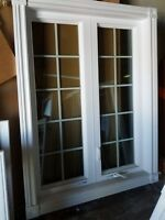 "Vinyl window Fix and Casemet with grills 44"" x 57.5"""